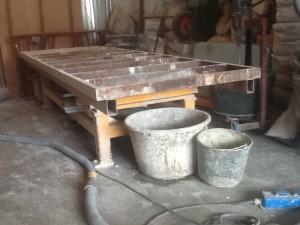 Nieuwe triltafel in de werkplaats